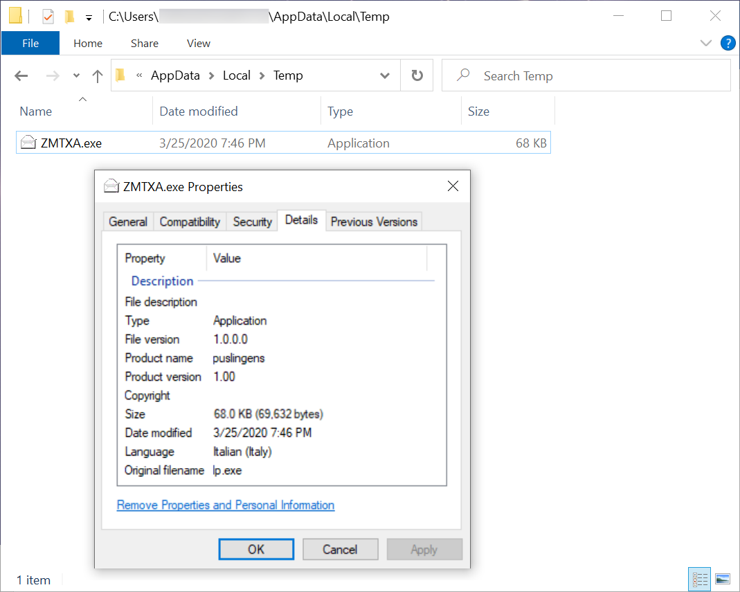 Figure 8. Binary for GuLoader after enabling macros on PM_2019_Screen_18_Tax_File.doc