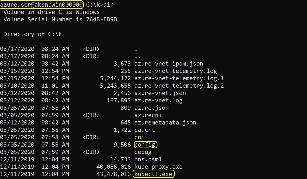 表示されたWindowsノードには、攻撃者が残りのKubernetesクラスタを制御するために必要なすべてのものが含まれています。