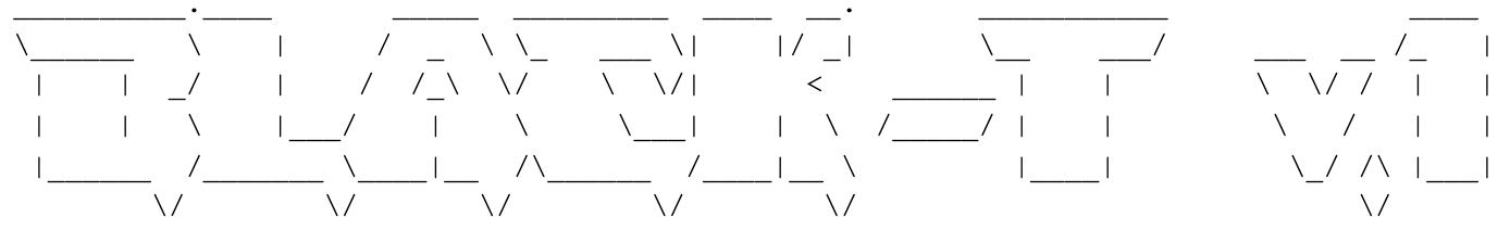 ASCIIアートの描画、バナーには「Black-T v.1」と表示されます