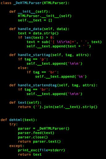 図4 Stack Overflow上でのディスカッションから入手した可能性のある、トロイの木馬で使われていたHTMLからテキストへの変換コード