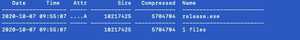 次の段階のペイロードは、バイナリの.gfidsセクションにある暗号化された7zアーカイブに保存されています。これは、すでに復号された7zアーカイブを示しています。