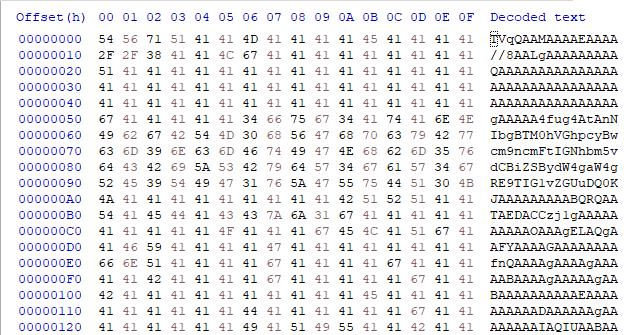これは「base64エンコードされたデータ」と「base64デコードされダンプされたバイナリ」を表しています。これらは、njRATを監視し、ダウンローダーコンポーネントとその第2段階のマルウェアとの関係を追跡する一環として収集した情報の一部です。
