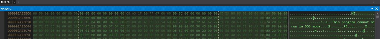 次の図は、実行前にメモリに存在する解凍された32ビット.NET実行可能データを示しています。