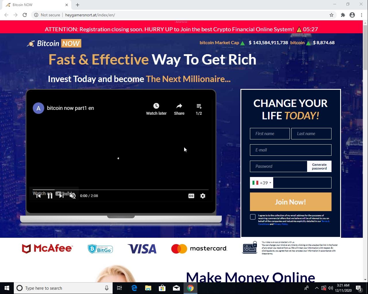 これは、ドメインheygamersnort[.]atによって設定された比較的高品質のウェブサイトの例です。これは英語です。