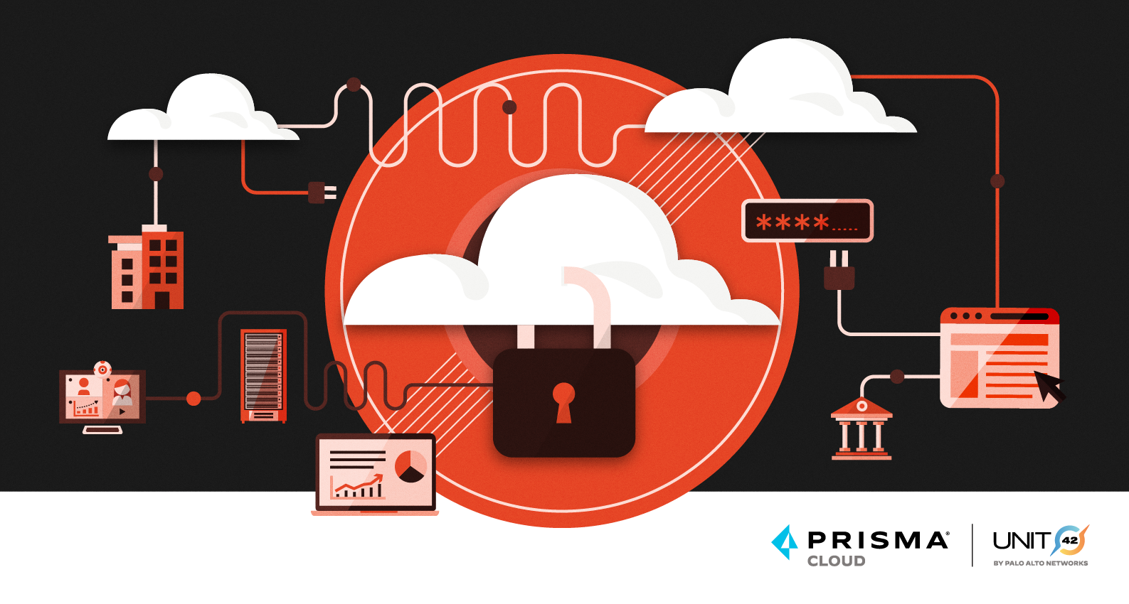 Cover image for the Unit 42 Cloud Threat Report, 1H 2021, which covers trends in issues related to cloud security.