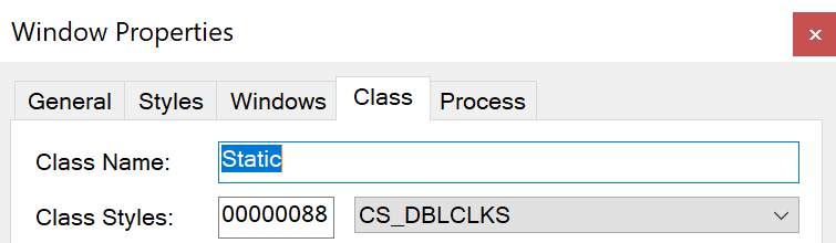 PlugXはここに示すようにWindowsの隠しクラス名として Static という名前を使用する。