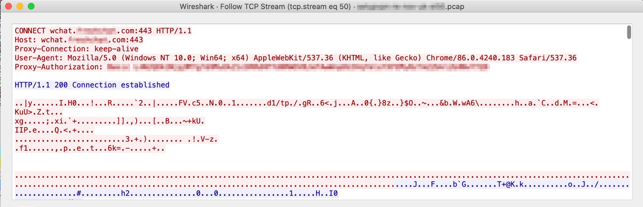 この図で示したSetupVPNのHTTP proxy-authorizationヘッダからSetupVPNアプリに関する有用な情報を提示できる