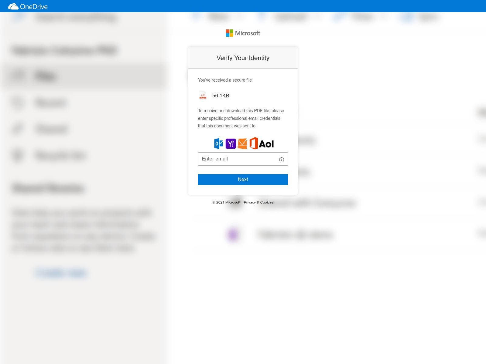 Microsoftを装う別の悪質なログインリクエスト。攻撃者はこの図のような企業のロゴを使い正当性を演出する