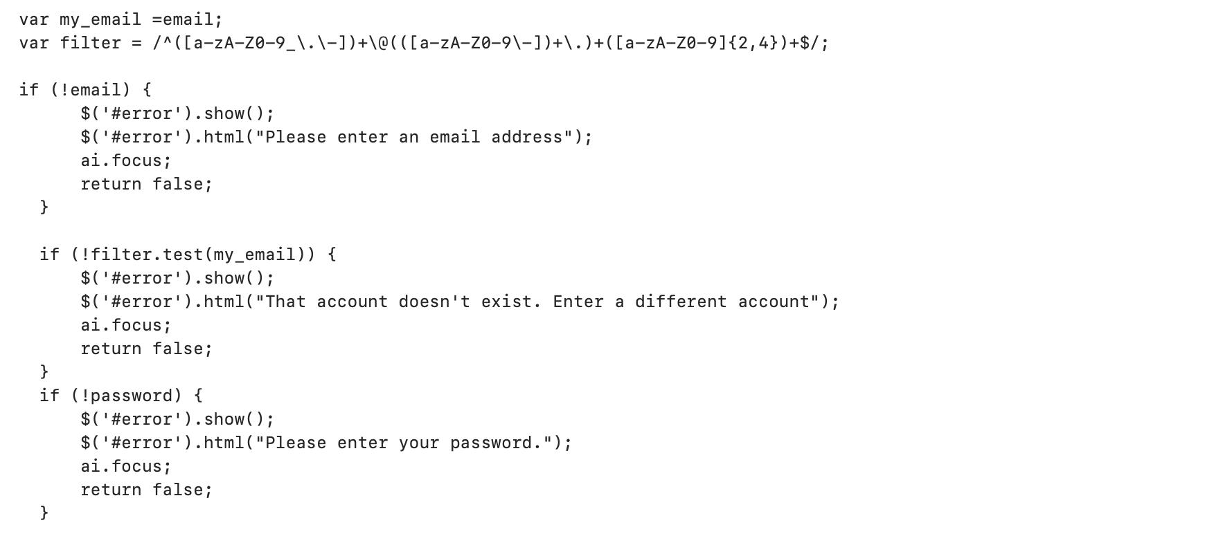 攻撃者がクレデンシャルを検証するために使用するJavaScriptの図